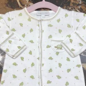 "Magnolia Baby ""Turtles"" Newborn Footie Pajama Suit"